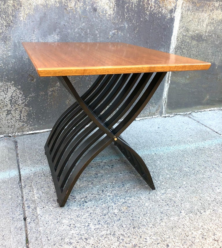 Mid-20th Century Harvey Probber Teak and Mahogany Side Table For Sale