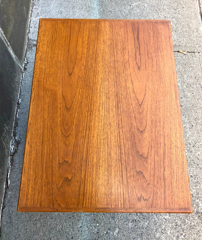 Harvey Probber Teak and Mahogany Side Table For Sale 1