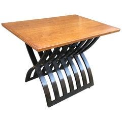 Harvey Probber Teak and Mahogany Side Table