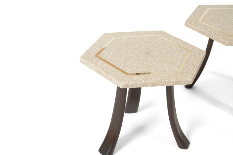 Mid-Century Modern Harvey Probber Terrazzo Side Tables For Sale