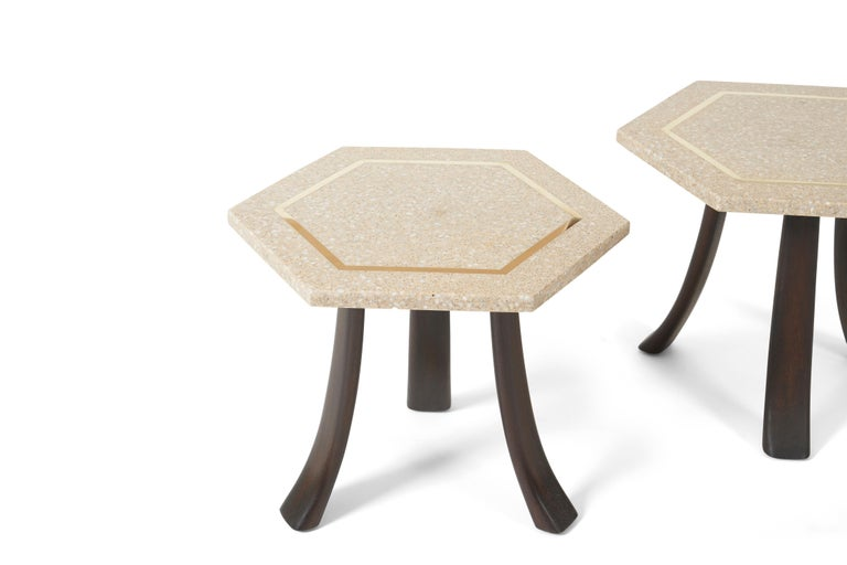 American Harvey Probber Terrazzo Side Tables For Sale