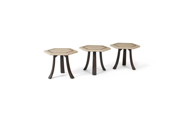 Harvey Probber Terrazzo Side Tables In Excellent Condition For Sale In Chicago, IL