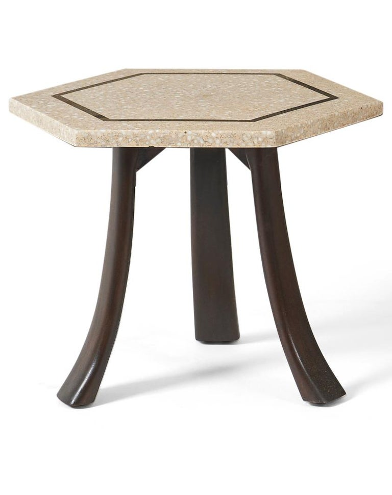 Mid-20th Century Harvey Probber Terrazzo Side Tables For Sale