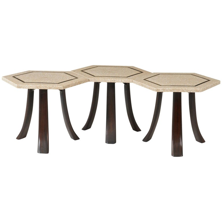 Harvey Probber Terrazzo Side Tables For Sale