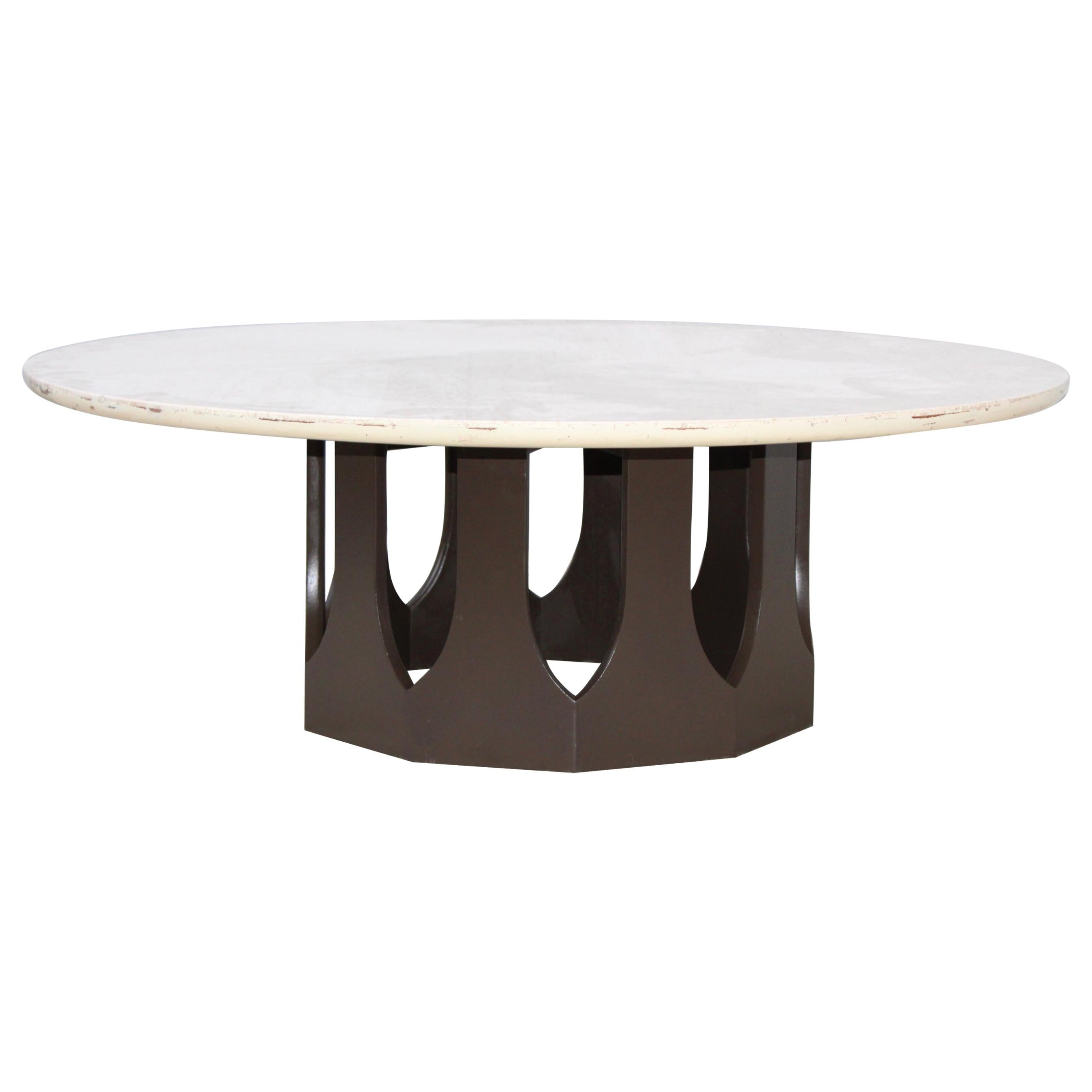 Harvey Probber Travertine Top Coffee Table