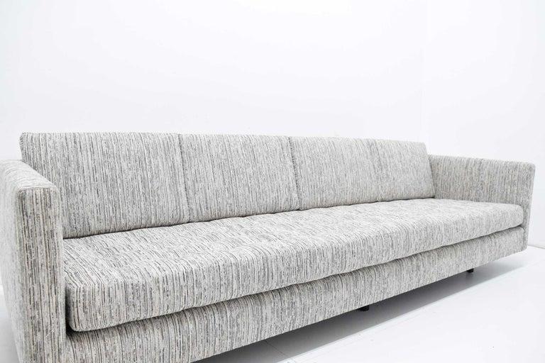 Upholstery Harvey Probber Tuxedo Sofa For Sale