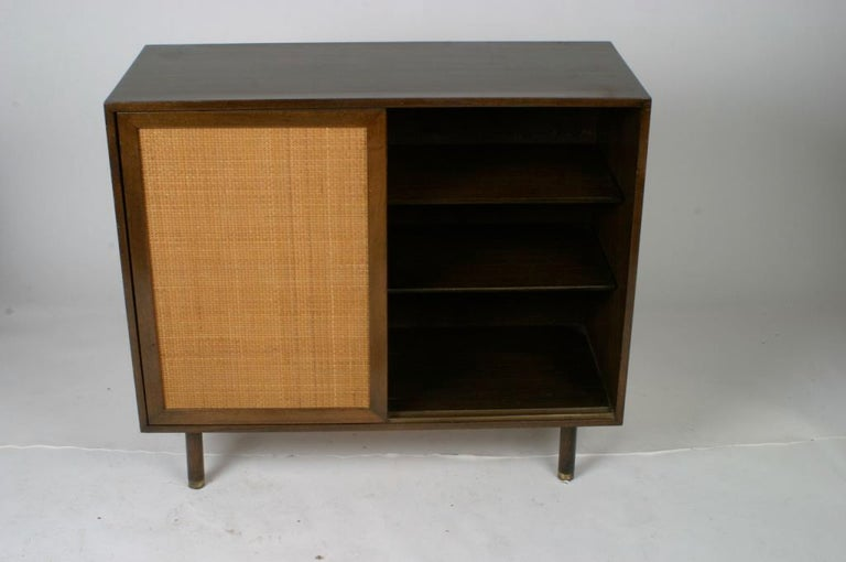 Mid-Century Modern Harvey Probber Two-Door Mahogany Cabinet with Cane Doors For Sale