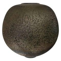Harvey Sadow Large Raku Stoneware Vessel