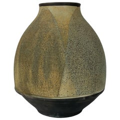 Harvey Sadow Raku Stoneware Vessel