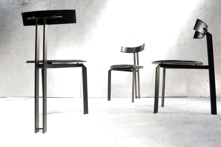 Minimalist Harvink Zeta Chairs Memphis Style 1980s Design For Sale