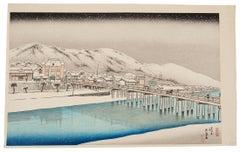 Goyo Hashiguchi, Shin Hanga Snow Scene, Kyoto, Original Japanese Woodblock Print