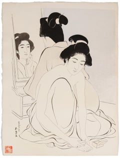 Goyo Hashiguchi, Shin Hanga, Original Japanese Woodblock Print, Beauty, Bath