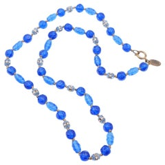 Haskell Blue Glass Necklace
