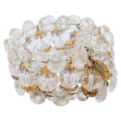 Haskell Crystal Cuff Bracelet