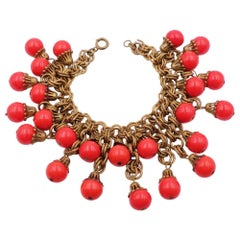 Haskell Early Red Glass Bracelet 1930s