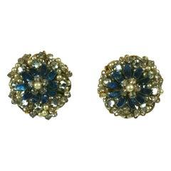 Haskell Style Enamel Flower Earrings