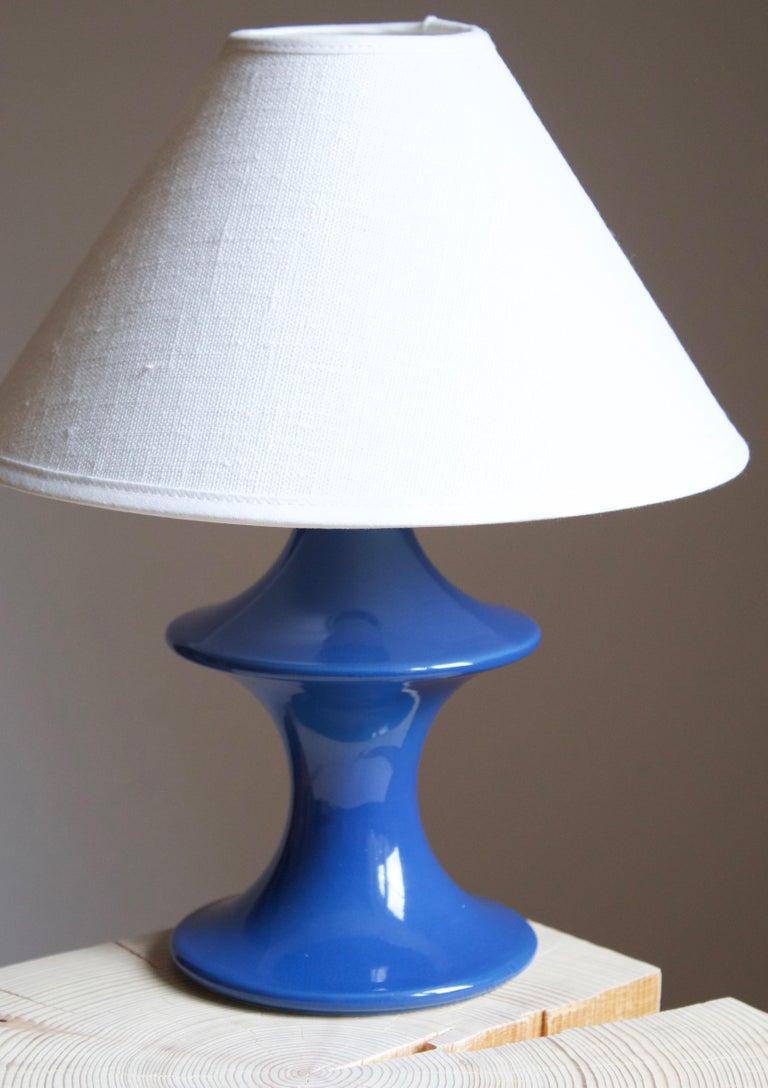 Mid-Century Modern Hasle Keramik, Table Lamp, Glazed Stoneware, Bornholm, Denmark, 1960s For Sale