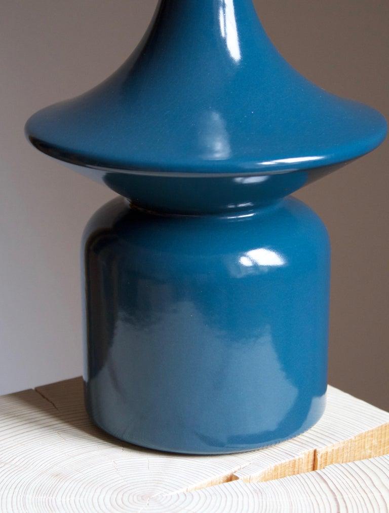 Danish Hasle Keramik, Table Lamp, Glazed Stoneware, Bornholm, Denmark, 1960s For Sale
