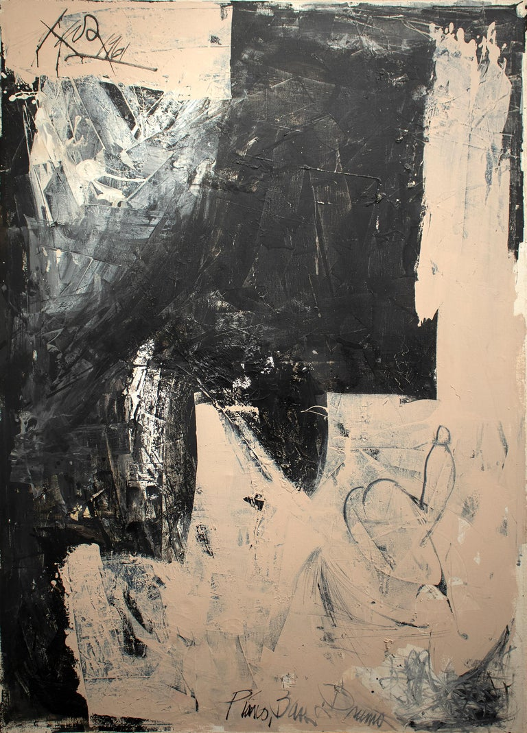 Hassel Smith Abstract Painting - Piano, Bass and Drums