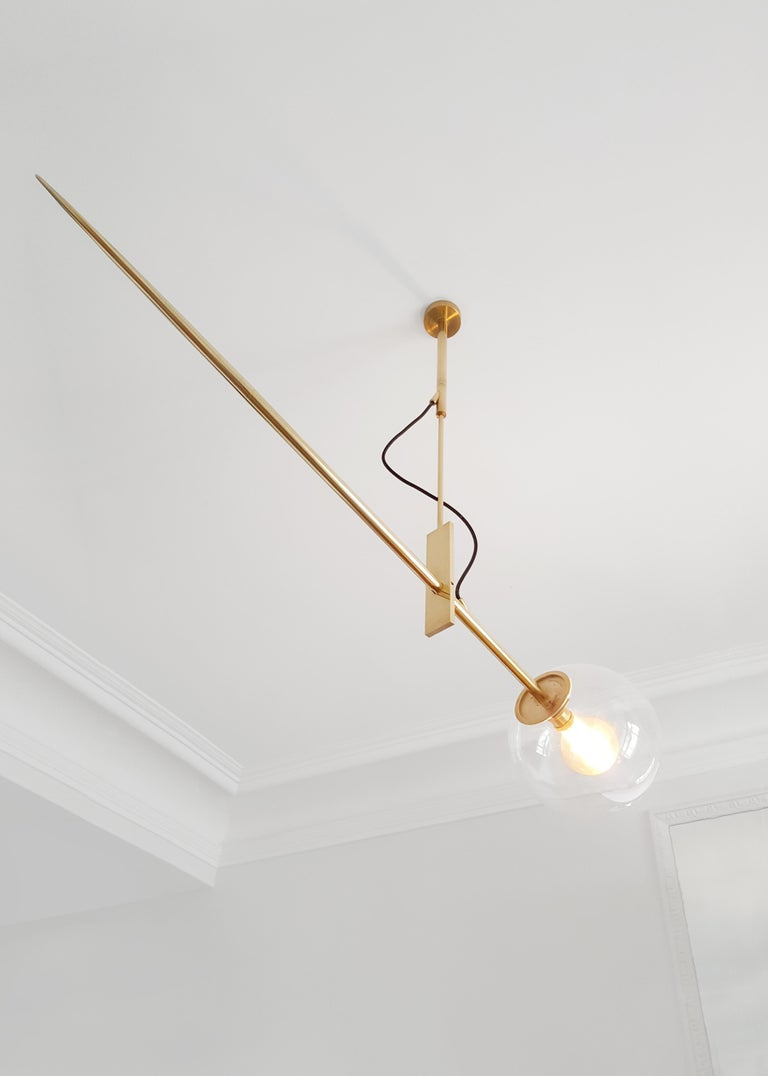 Hasta Brass Hanging Lamp, Jan Garncarek For Sale 4