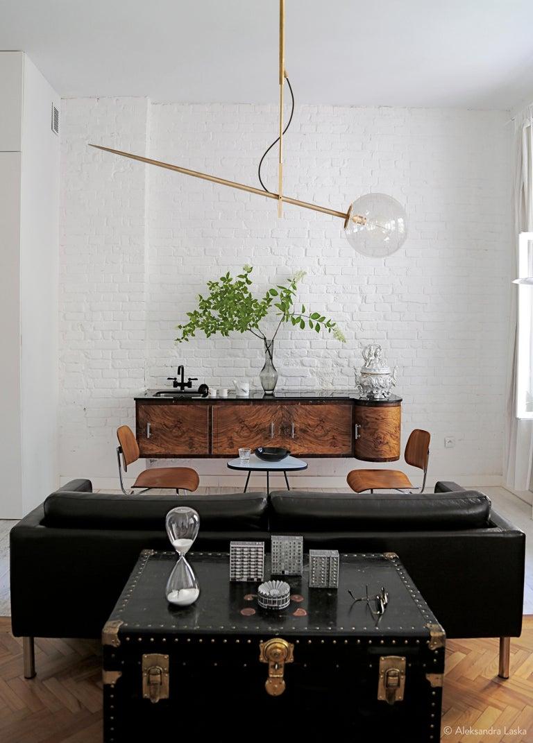 Hasta Brass Hanging Lamp, Jan Garncarek For Sale 5