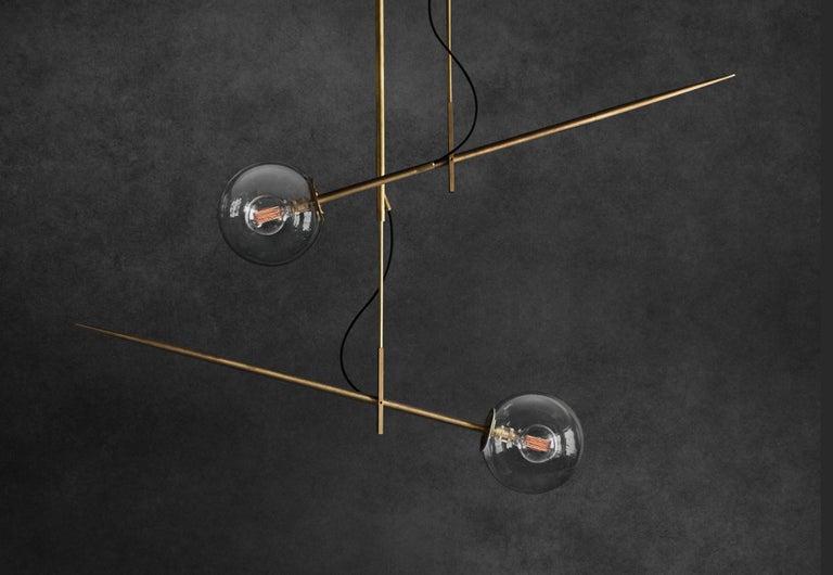 Hasta Brass Hanging Lamp, Jan Garncarek For Sale 2