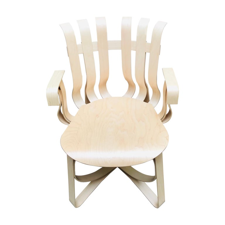 """""""Hat Trick"""" Armchair by Franck Gehry, 1990 For Sale"""