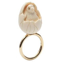Hatched Dodo Ring