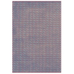 Hatches Rug Red and Blue