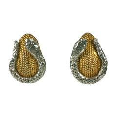 Hattie Carnegie Snake Earrings
