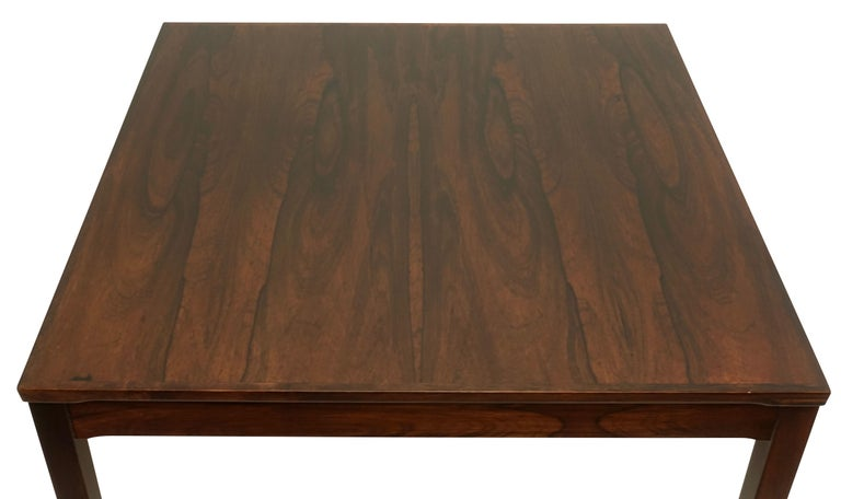 Mid-Century Modern Haug Snekkeri Scandinavian Midcentury Rosewood Coffee Table For Sale