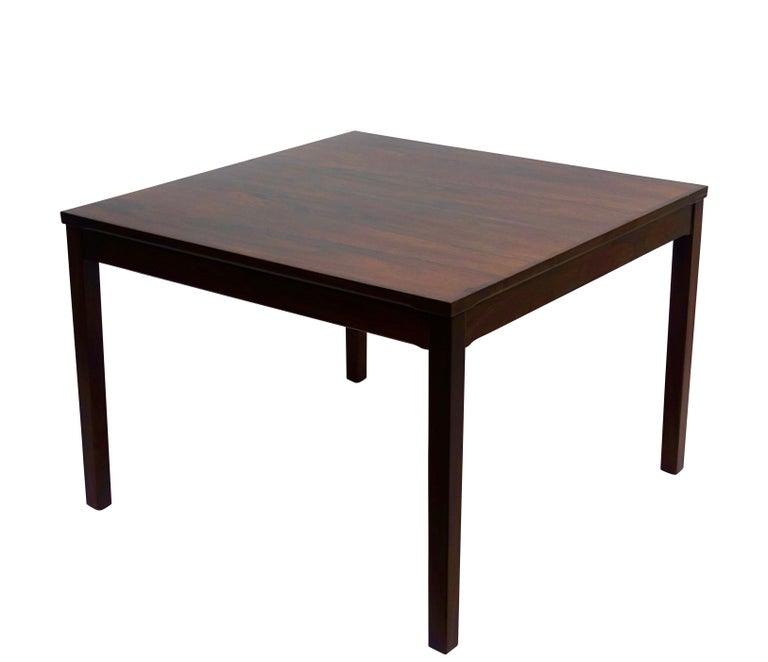 Norwegian Haug Snekkeri Scandinavian Midcentury Rosewood Coffee Table For Sale