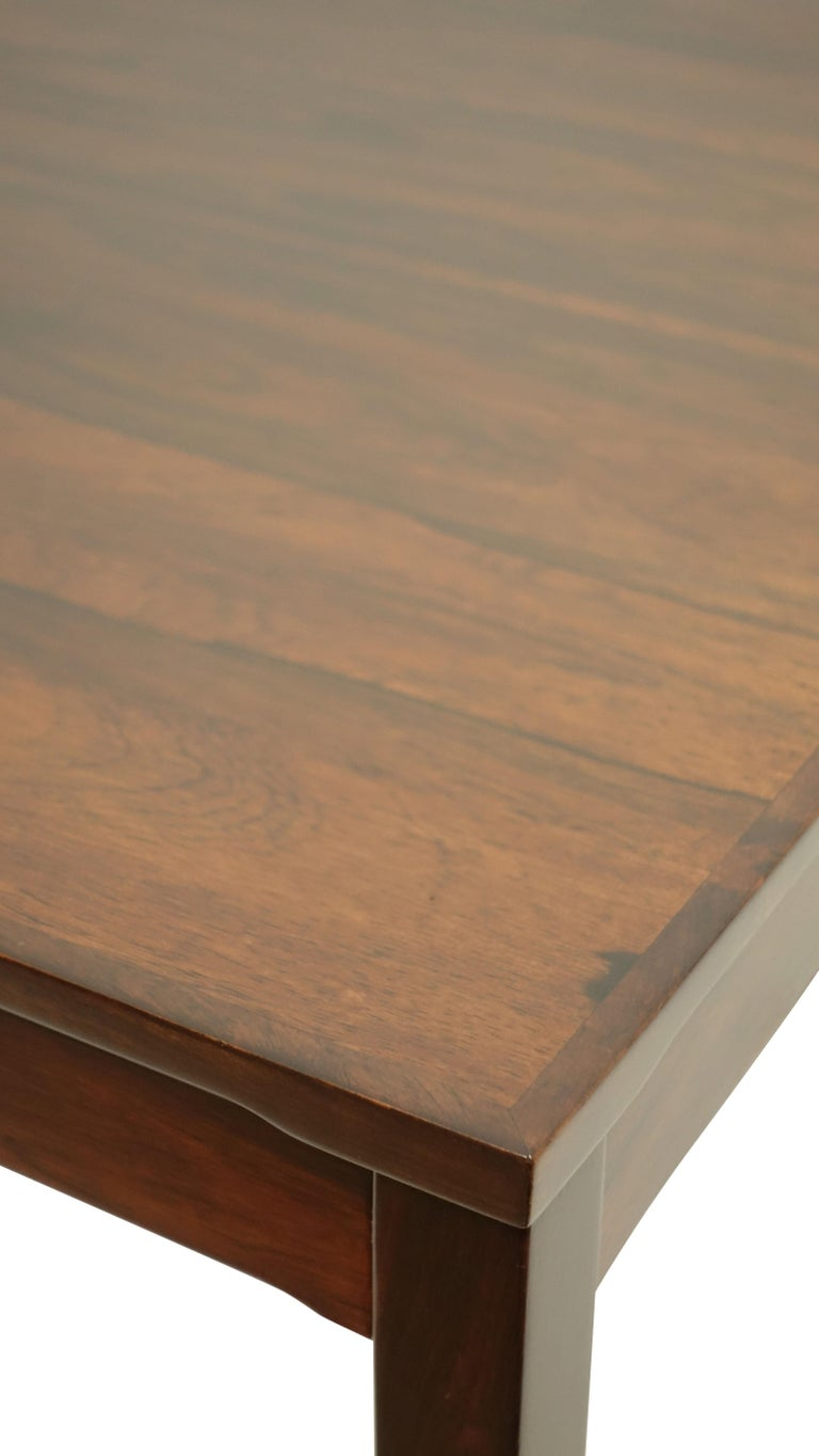 Haug Snekkeri Scandinavian Midcentury Rosewood Coffee Table In Good Condition For Sale In San Francisco, CA