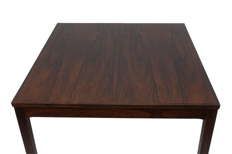 20th Century Haug Snekkeri Scandinavian Midcentury Rosewood Coffee Table For Sale
