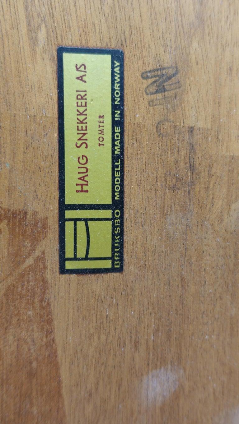 Haug Snekkeri Scandinavian Midcentury Rosewood Coffee Table For Sale 1