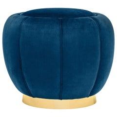 Haulm Blue Pouf