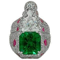 Haume Diamond, Ruby and Emerald Ring