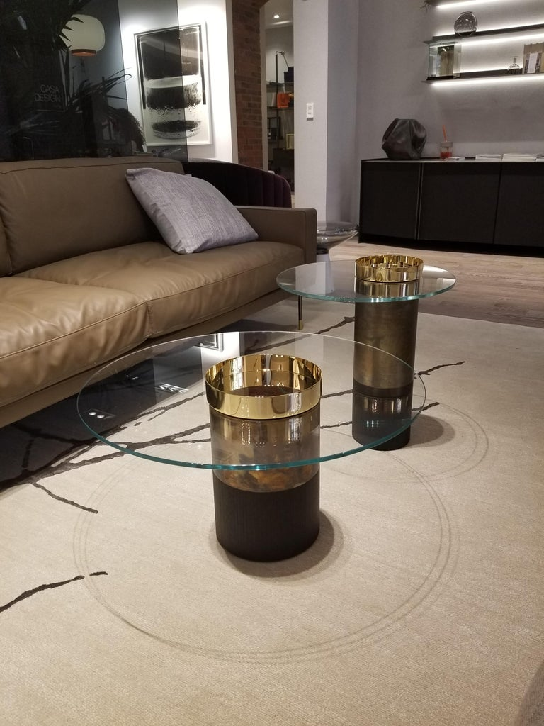 Modern Haumea Brass Coffee Table Small by Massimo Castagna For Sale