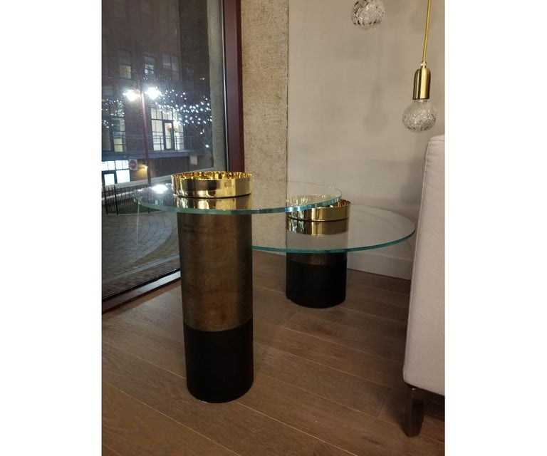 Italian Haumea Brass Coffee Table Small by Massimo Castagna For Sale