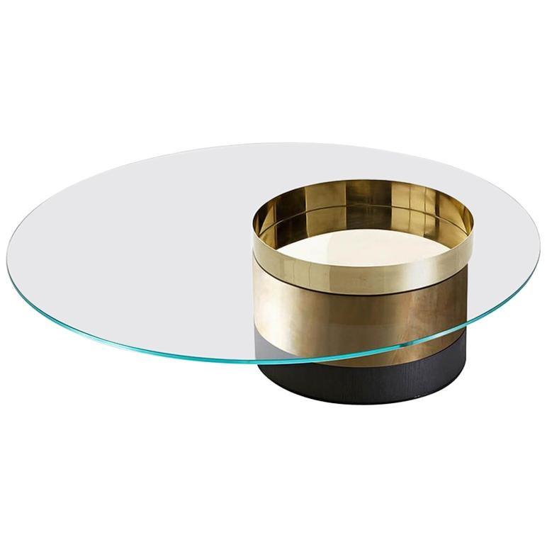 Haumea Coffee Table Glass M by Massimo Castagna