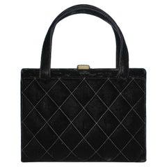 Haute-Couture black velvet Chanel bag