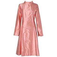 Haute-Couture Chanel coat-dress pink wild silk