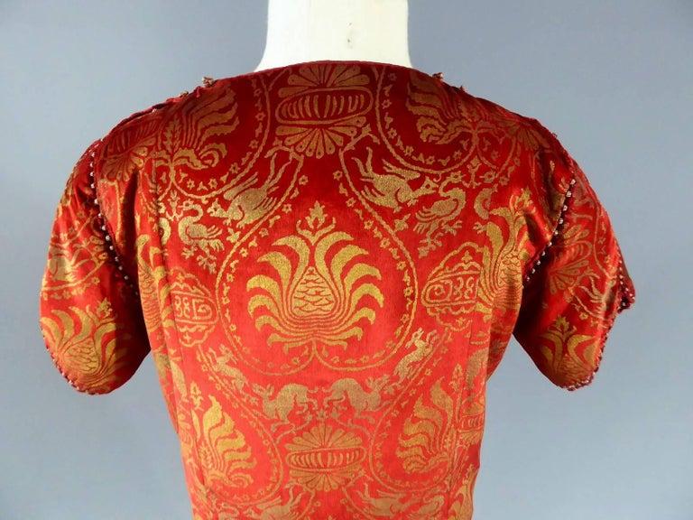 Haute Couture evening dress -attributed to- Maria Monacci Gallenga Circa 1930 For Sale 5