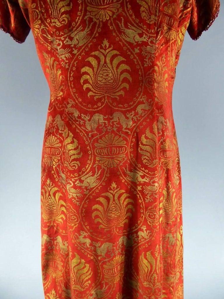 Women's Haute Couture evening dress -attributed to- Maria Monacci Gallenga Circa 1930 For Sale