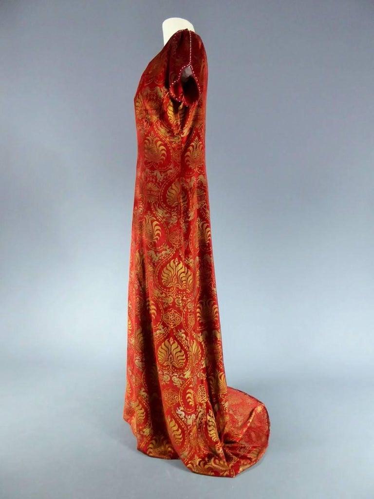 Haute Couture evening dress -attributed to- Maria Monacci Gallenga Circa 1930 For Sale 3