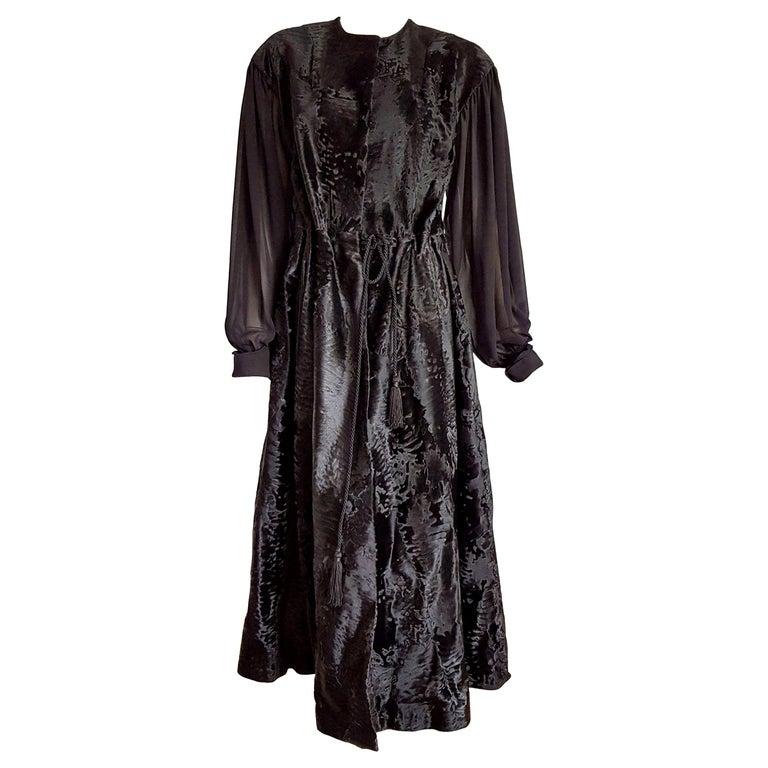 "Haute Couture Giuliana TESO ""New"" Wild Russian Breitschwanz Fur Dress - Unworn For Sale"