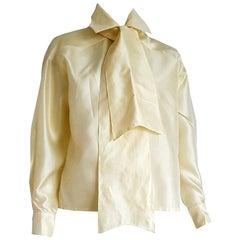 """Haute Couture Ines de la FRESSANGE """"New"""" Single pc Unique Design Shirt - Unworn"""
