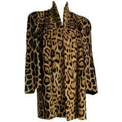 Haute Couture MANFRIANI Florence Rare Wild Jaguar Fur (Pre-Ban) Coat. Unworn