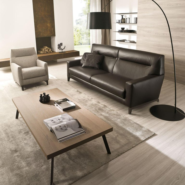 Haven Dark Brown Leather Sofa For Sale at 1stdibs