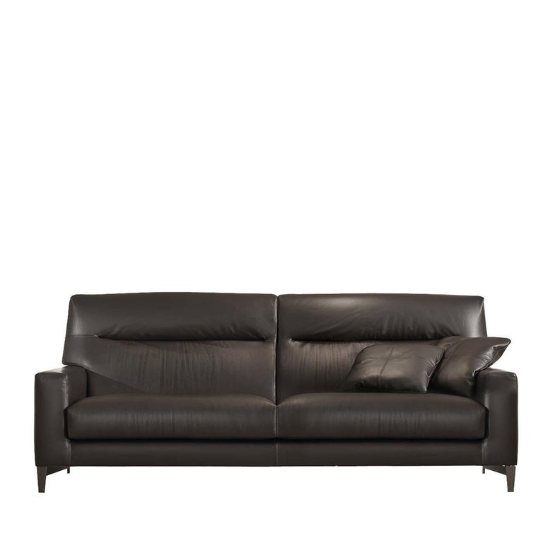 Haven Dark Brown Leather Sofa For